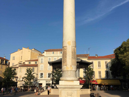 The column of Place Nationale in Antibes