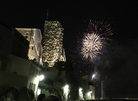 Fireworks in Antibes
