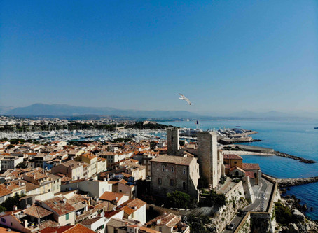 Antibes seen from the sky
