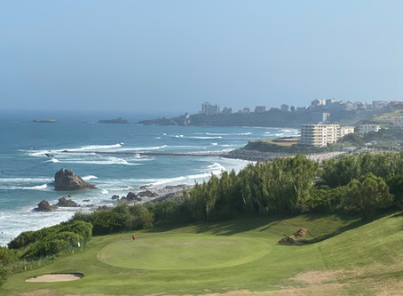 Breathtaking views of the ocean from the Golf d'Ilbaritz!