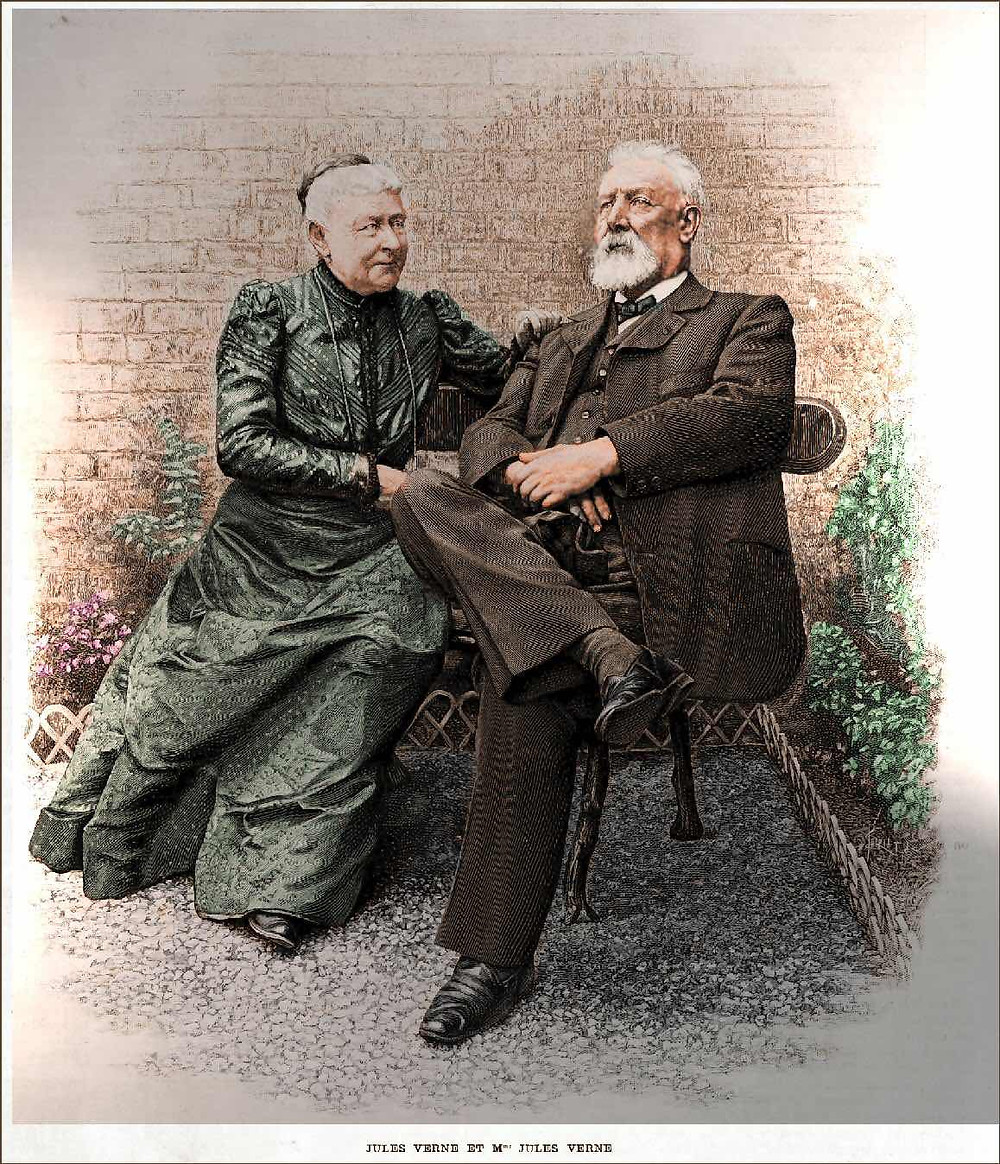 Jules Verne and his wife