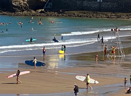 Surfing in Biarritz!