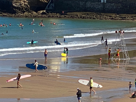 Surfing in Biarritz!