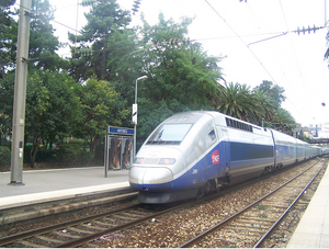 TGV in Antibes