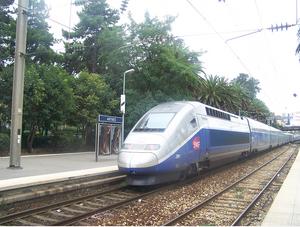 TGV in Antibes