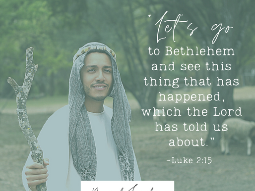 """Day 7: """"Let's go to Bethlehem and see this thing that has happened, which the Lord has told us..."""""""