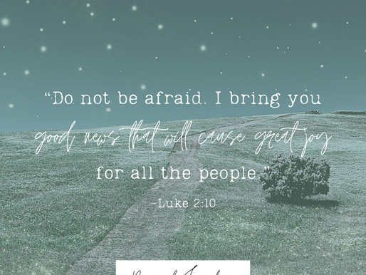 """Day 6: """"Do not be afraid. I bring you good news that will cause great joy for all the people."""""""
