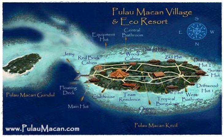 Pulau Macan Map