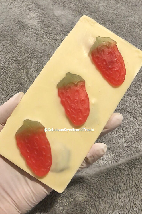 Strawberry Loaded Chocolate Bar
