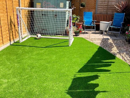Installation of Infinity dog friendly artificial grass