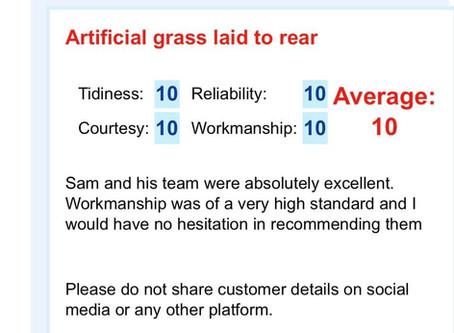 10/10 Artificial Grass Review