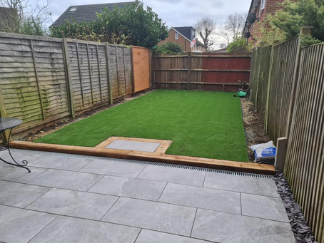 November Artificial Grass Installation