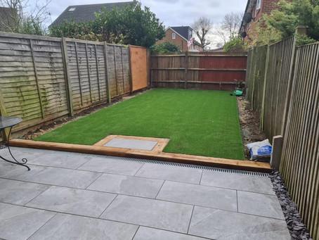 November Artificial Grass Installation