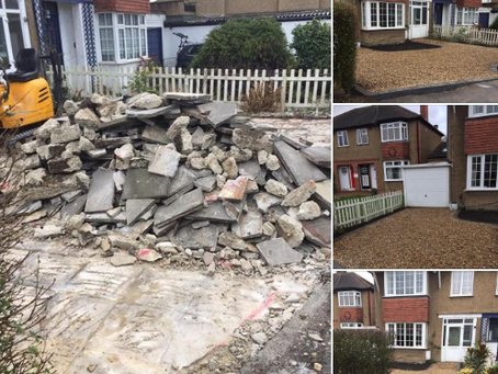 Crazy Paving Driveway in Eastcote