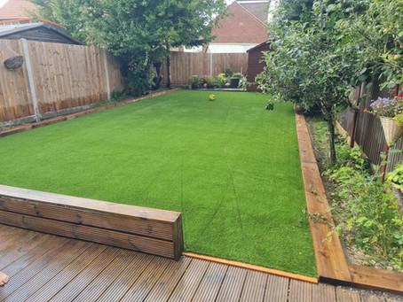 Borehamwood Artificial Grass Installation