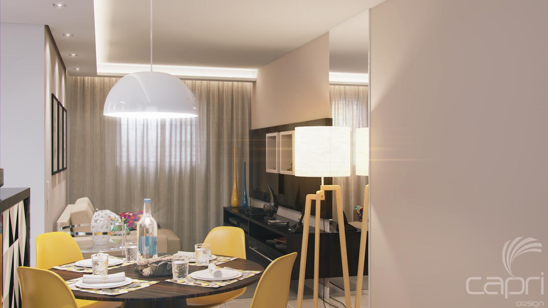 Sala de Jantar e Estar Apartamento