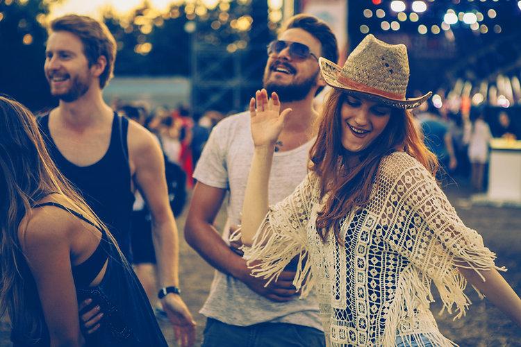 People Dancing at Concert