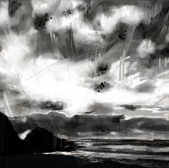 Digital Drawing - 'Storm'