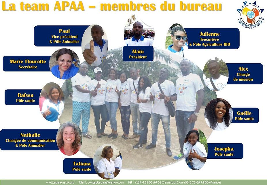 L'équipe APAA - CAMEROUN