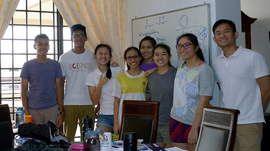 2016 students at Chemistry Domus