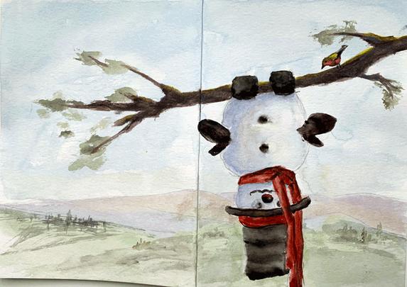 Snowman Card 1