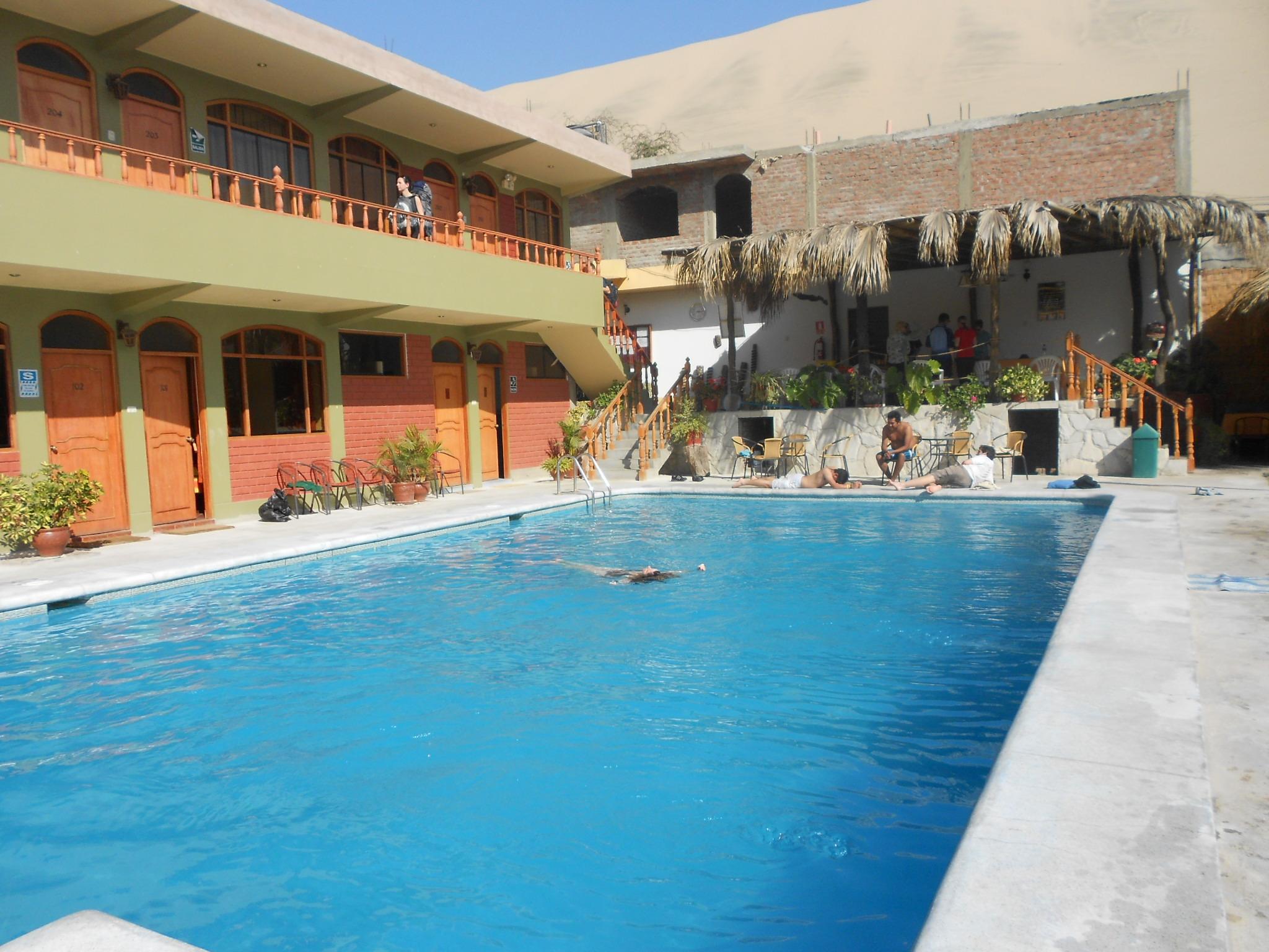 free swimming pool area