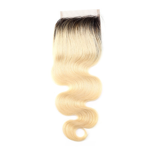 BLONDE BODY WAVE OMBRE CLOSURE