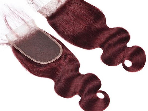 BURGUNDY BODY WAVE CLOSURE