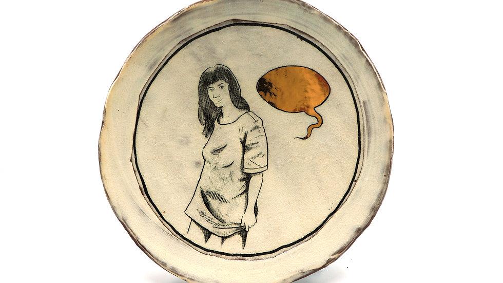 """Speech Bubble"" Salad Plate"
