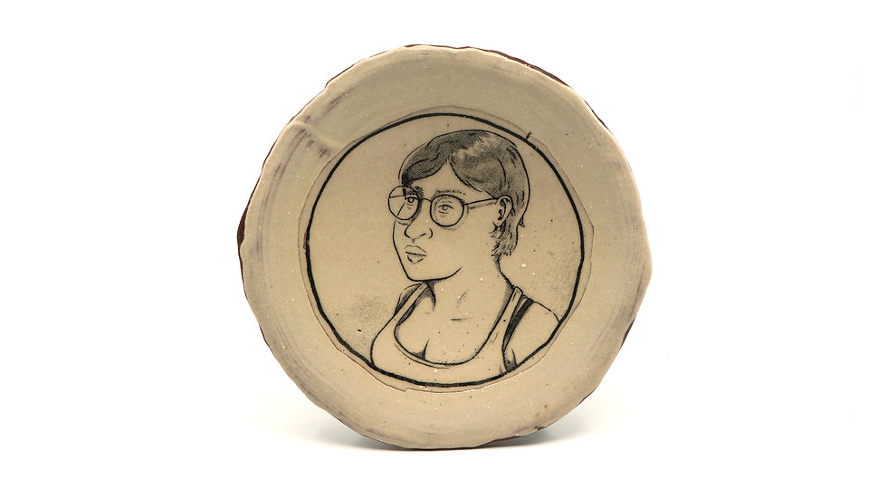 """Woman Wearing Glasses"" Snack Plate"
