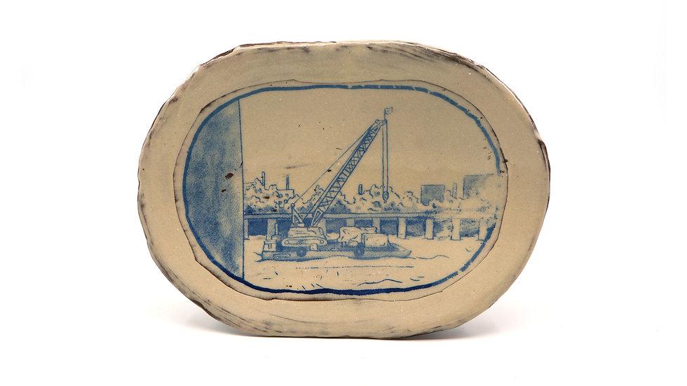 """Crane on the River"" Sandwich Plate"