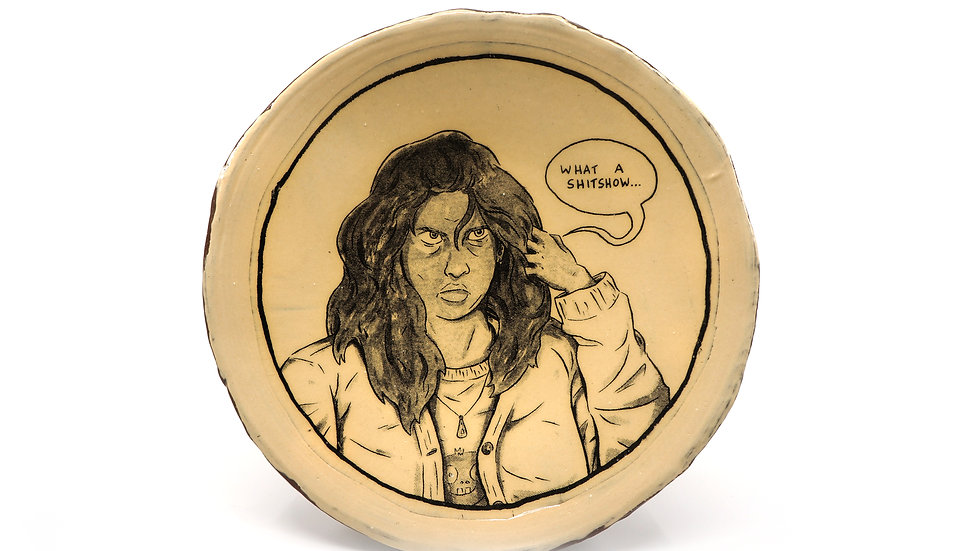 """""""What A Shitshow"""" Dinner Plate"""