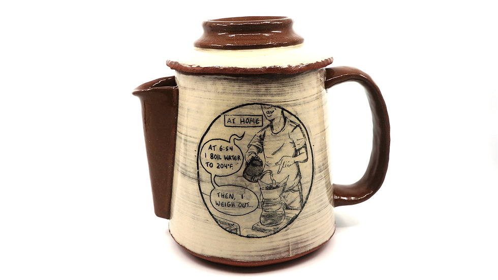"""The Duality of Joe"" Coffeepot"