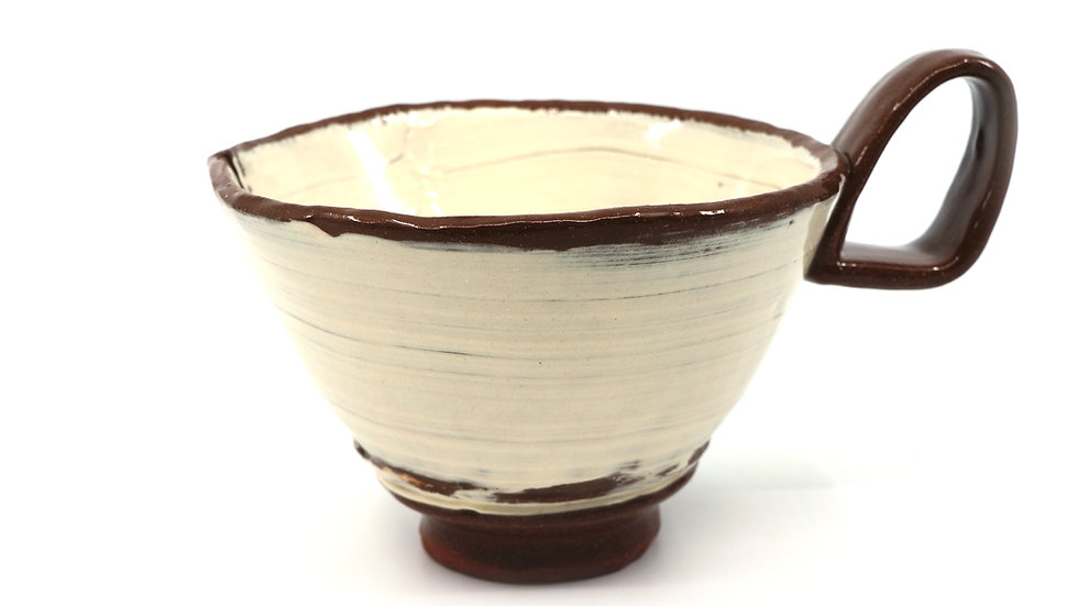 """Black."" Cappuccino Mug"