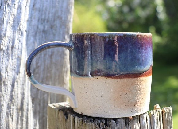 Hand Thrown Mug: Island Heather + Irish Sea Glaze