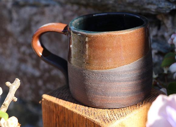 Thrown Mug: Small Marbled Mug - Close to earth