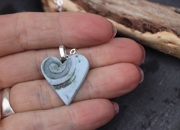 Clay Heart Pendant