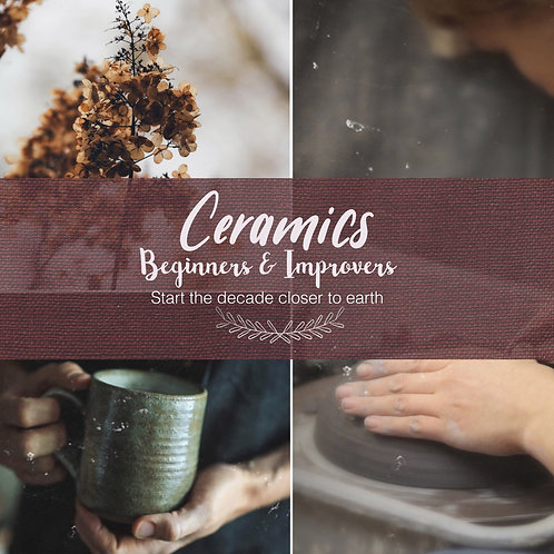 Absolute Beginners & Improvers In Ceramics: Day or Night: from April 2021