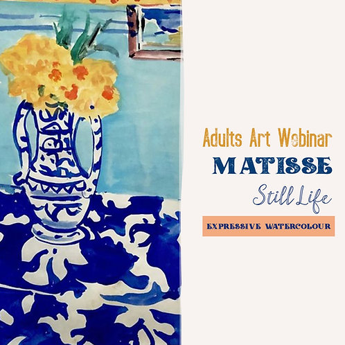 Adults Art Webinar: Matisse Still Life: Floral Watercolour: TBC