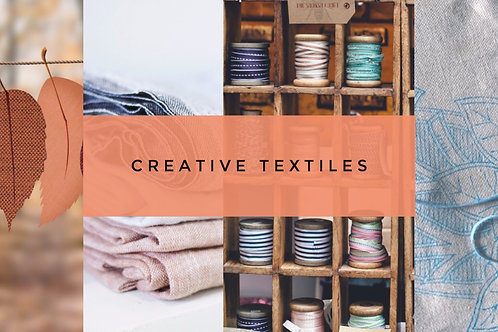 Creative Textiles: Monday Evenings from: 2021 TBC
