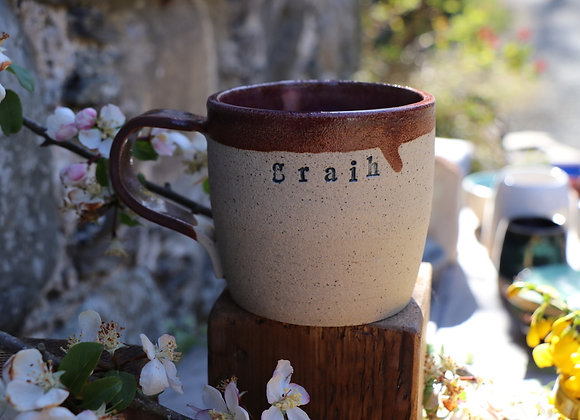 Thrown Stoneware Mug: Graih