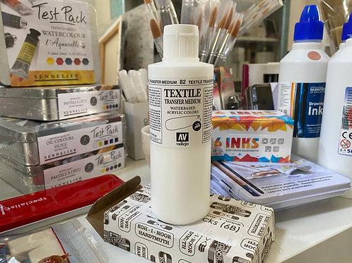 Textile transfer medium