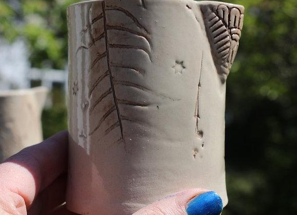 Hand build Stoneware Pourer: Wild Manx