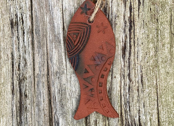 Red Clay Fish Decoration