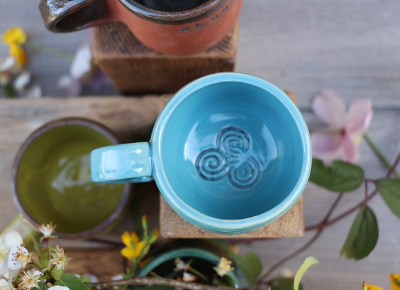 Handthrown Celtic Design Mug