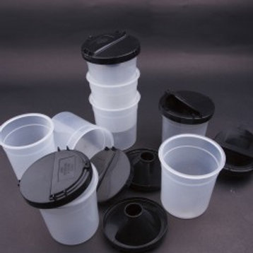 Non-Spill Pots with Flip-Top Lids