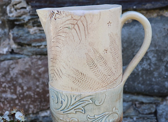 Large Hand Build Jug: Wild Manx