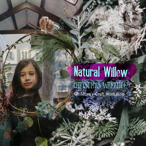 Natural Willow Christmas Wreath + lantern table Decoration: 20th December