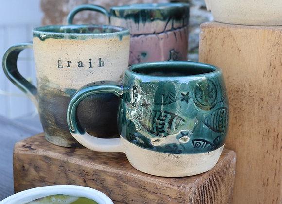 Fish Print Mug