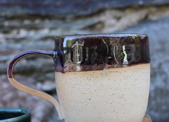 Hand thrown stoneware mughills + heather